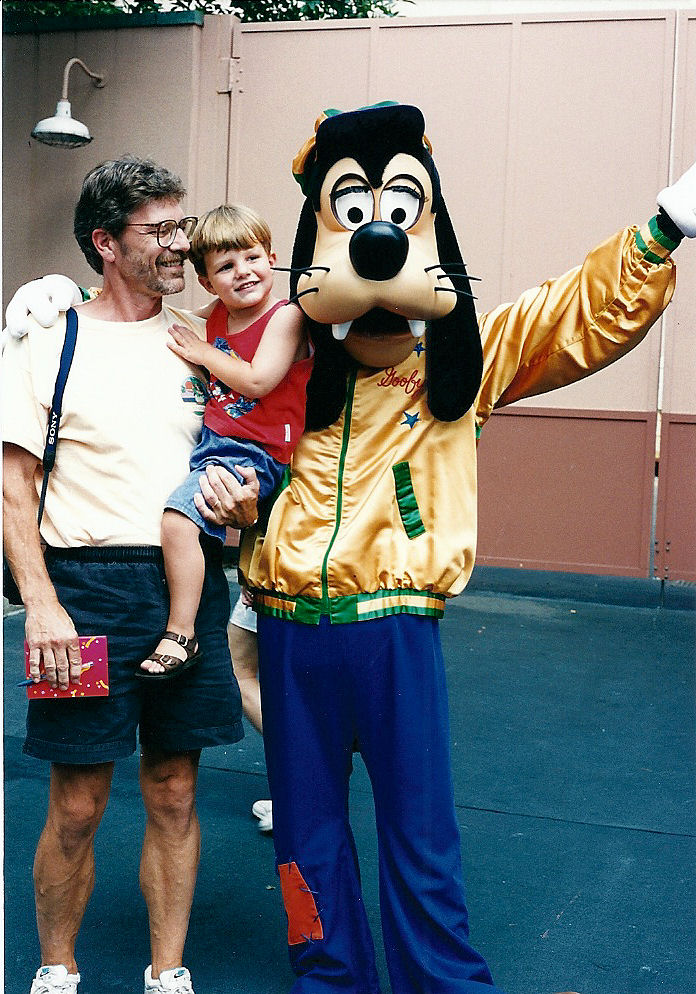 Max, Dad and Goofy.