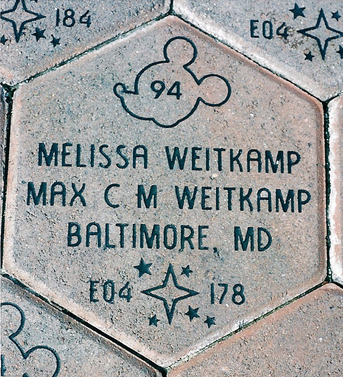 Plaque for Max and Melissa