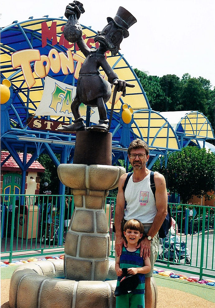 Dad and I in Mickey's Toontown Fair.