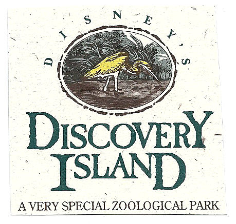 A logo and slogan for Discovery Island.