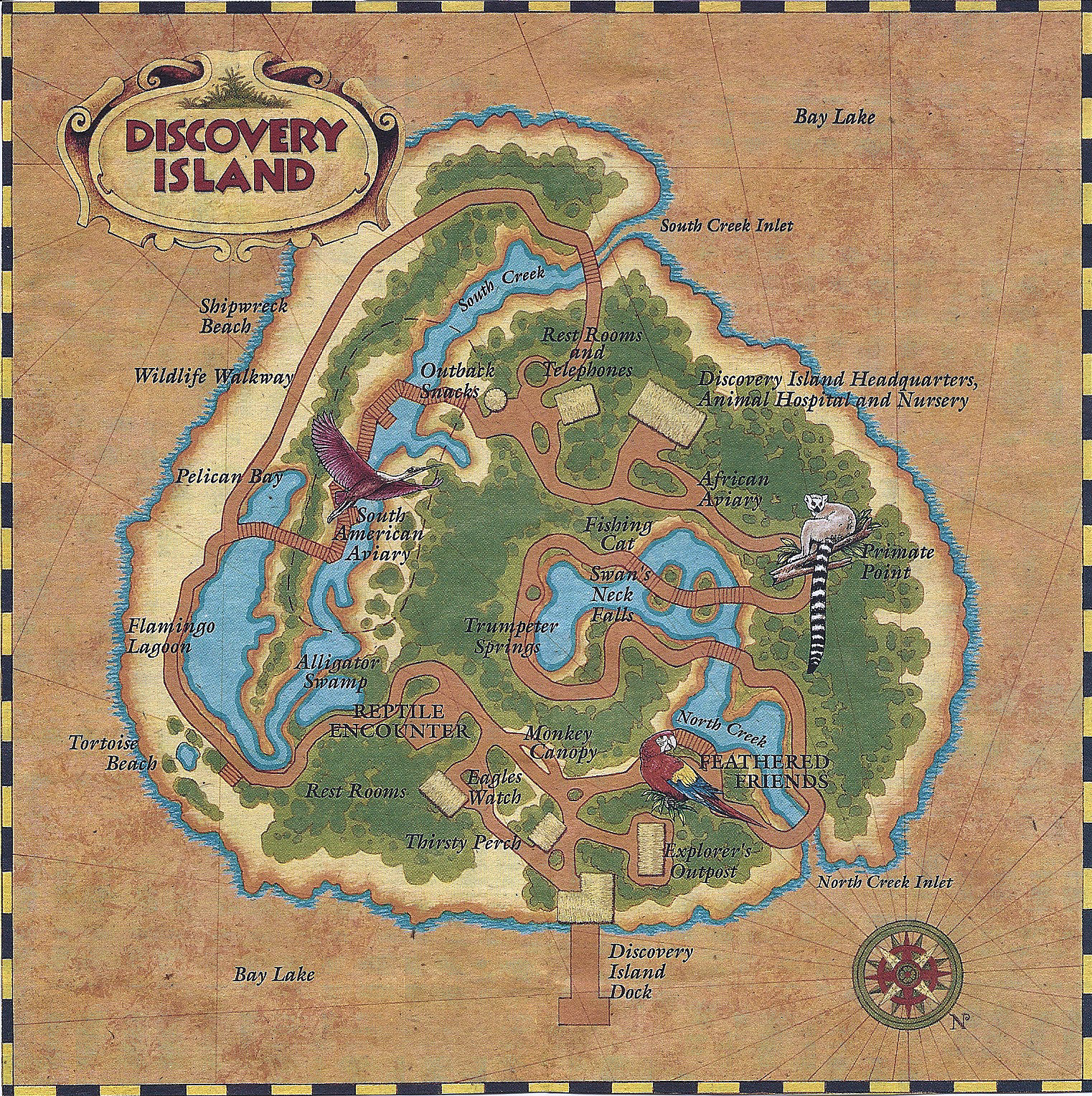 A map of Discovery Island.