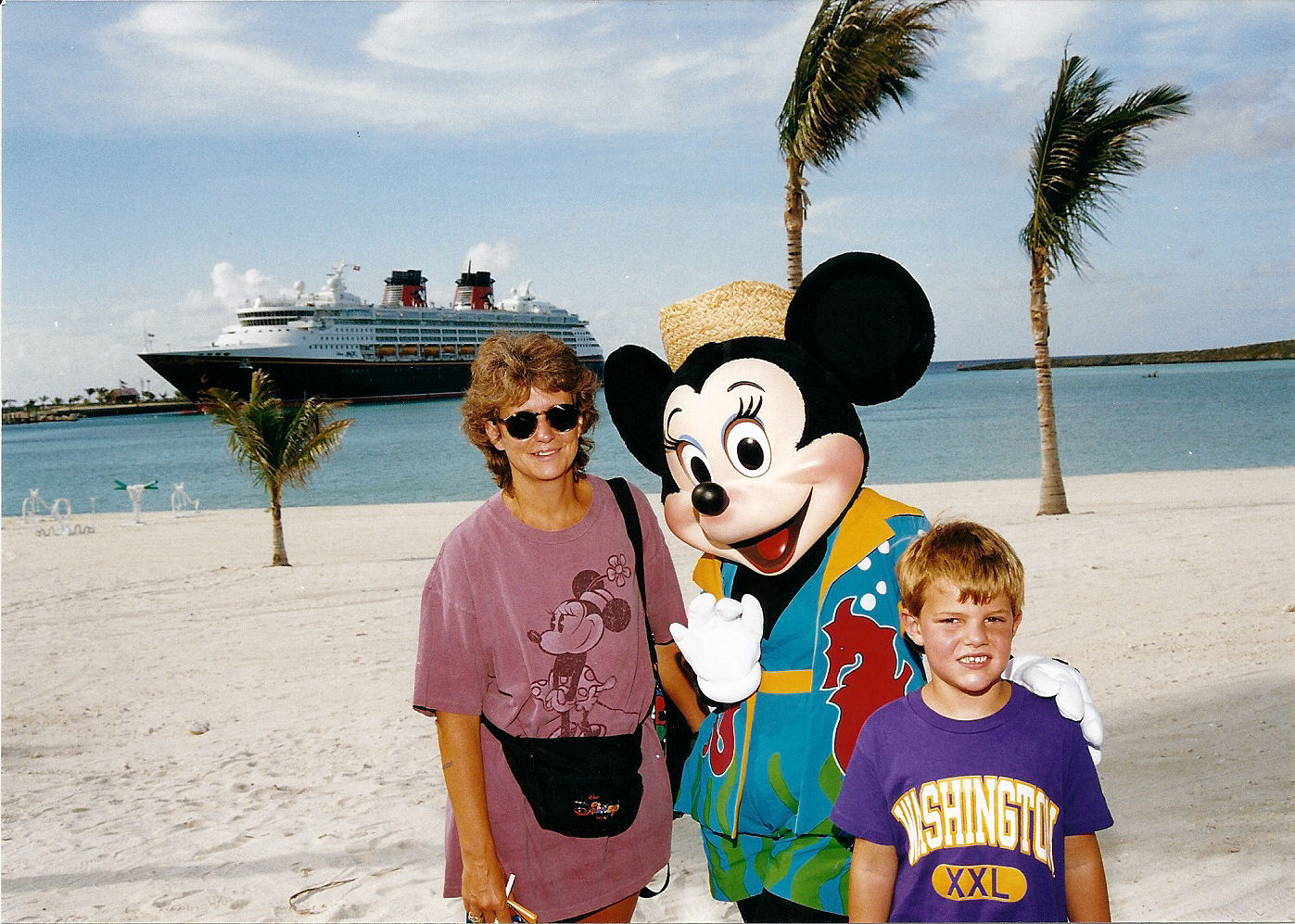 Me, my mom, and Minnie on Castaway Cay.