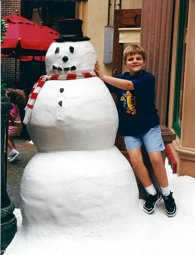 That snowman has gone through some clothes changes over the years, Disney's MGM Studios, Disney World.