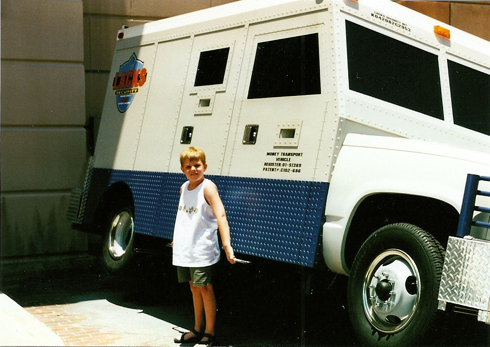 Me picking up a truck at Disney's MGM Studios.