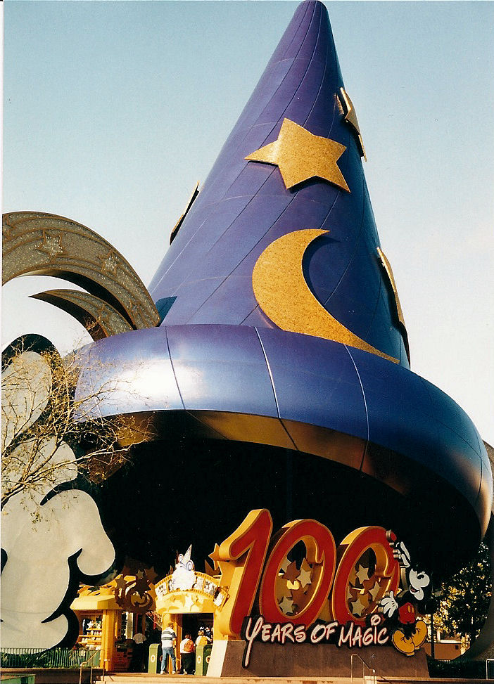 The Sorcerer's Hat, the new symbol of Disney's MGM Studios, during the 100 Years of Magic celebration, to honor what would have been Walt Disney's 100th birthday.