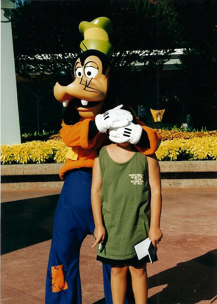 Goofy and I (If you can see me).