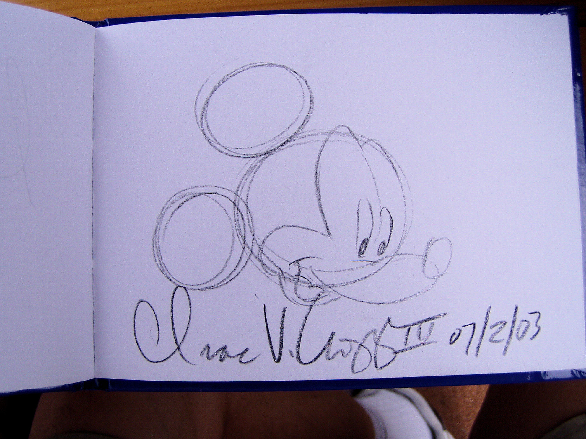 An autograph I got from a Disney animator.
