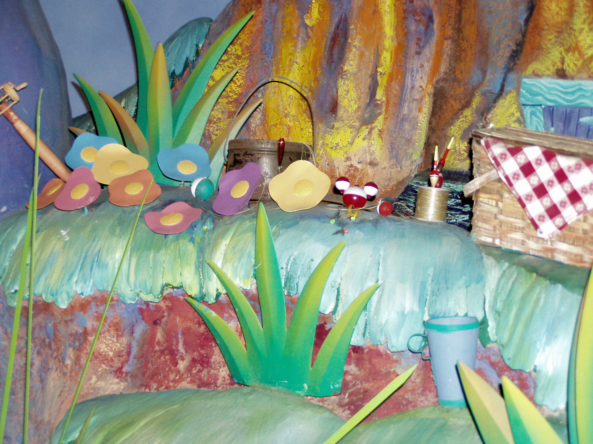 A Hidden Mickey inside Splash Mountain at the Magic Kingdom at Disney World.