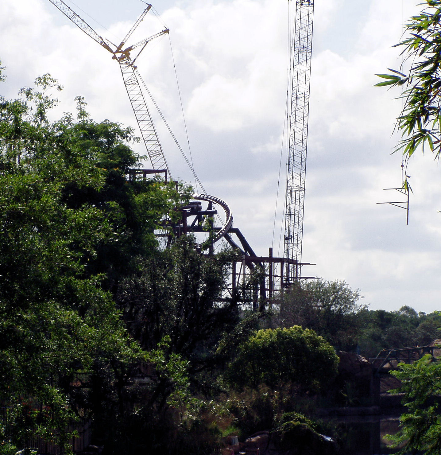 Yet another shot of the under construction Expedition Everest.