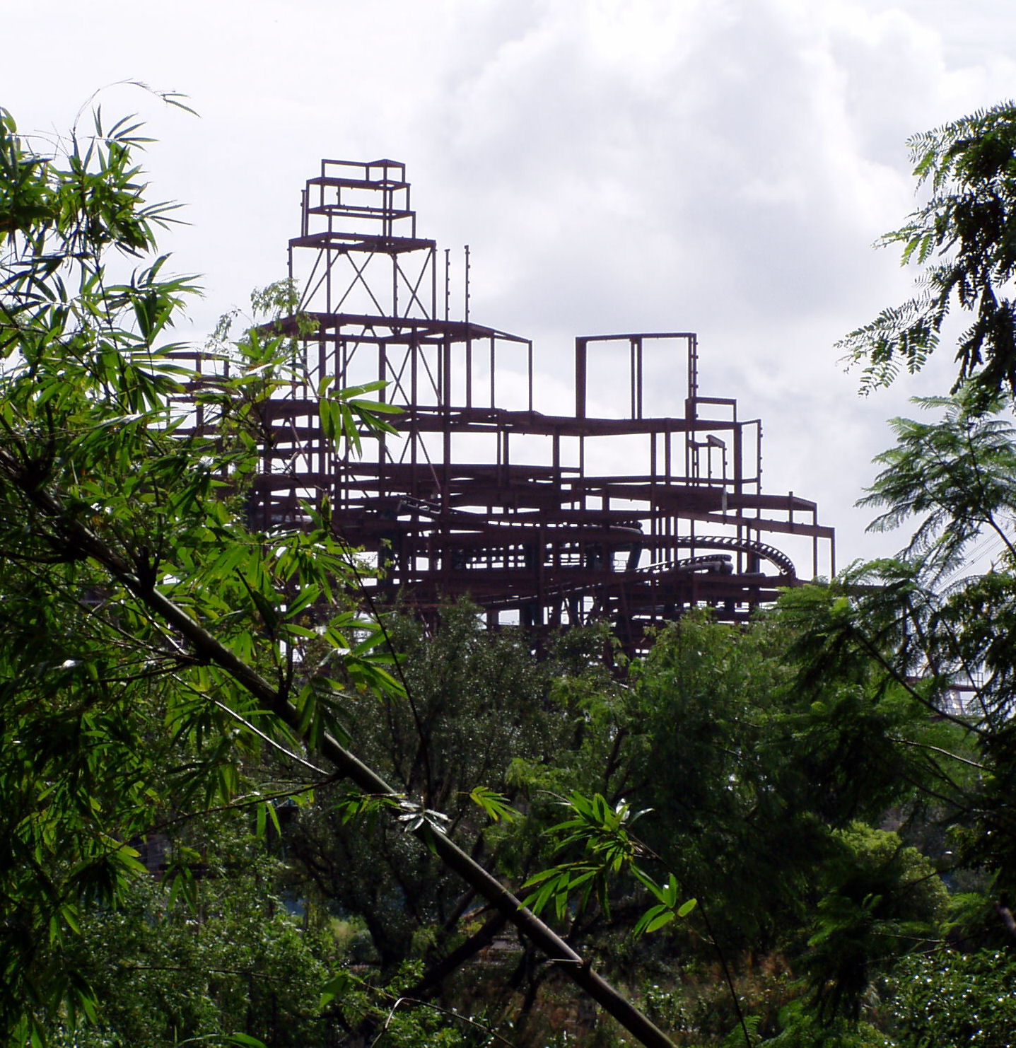 Another shot of the under construction Expedition Everest.
