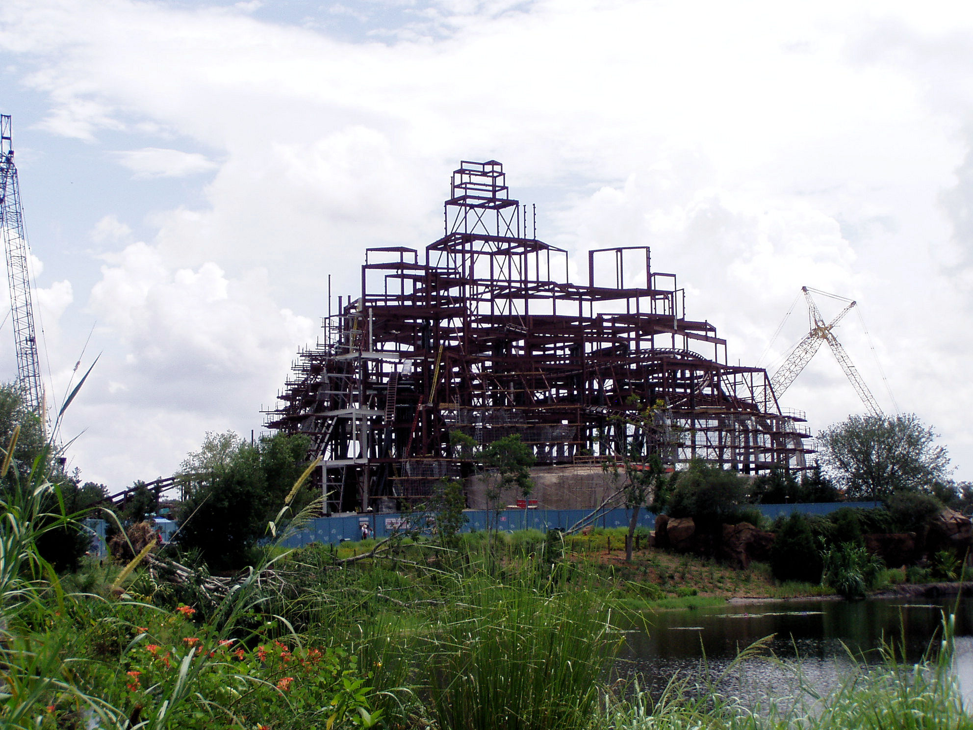 The under construction Expedition Everest attraction at Disney's Animal Kingdom.