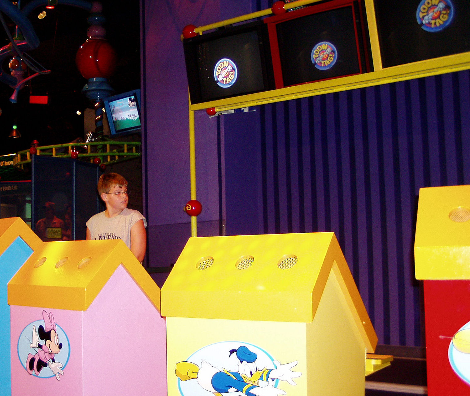 Me about to play Toon Innoventions at EPCOT. (I always liked to play as Goofy)