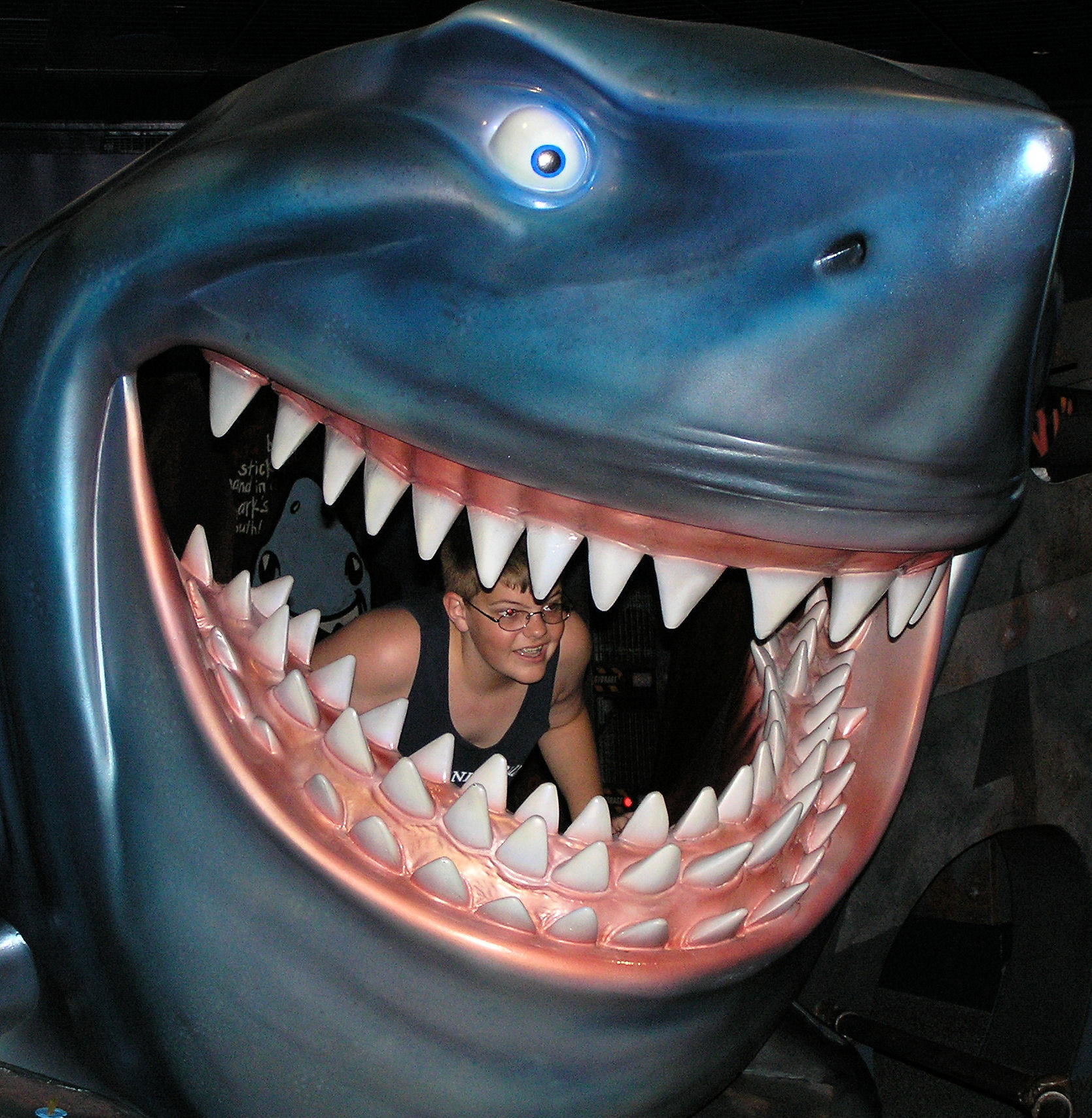 Me inside Bruce from Finding Nemo at The Seas with Nemo and Friends at EPCOT.