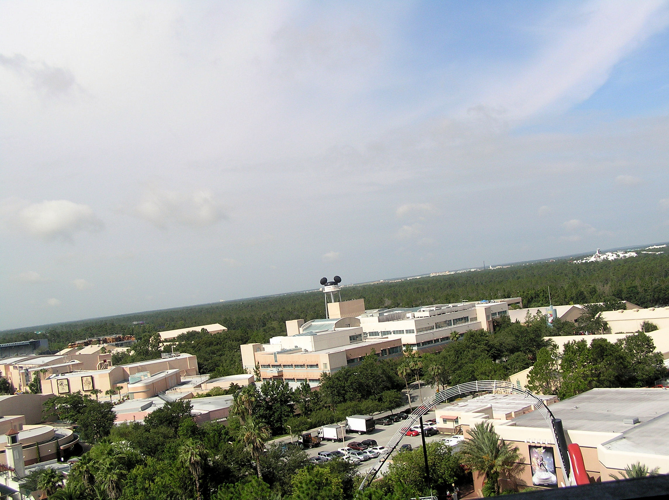 The view from the drop tower in the Tower of Terror at Disney's MGM Studios.