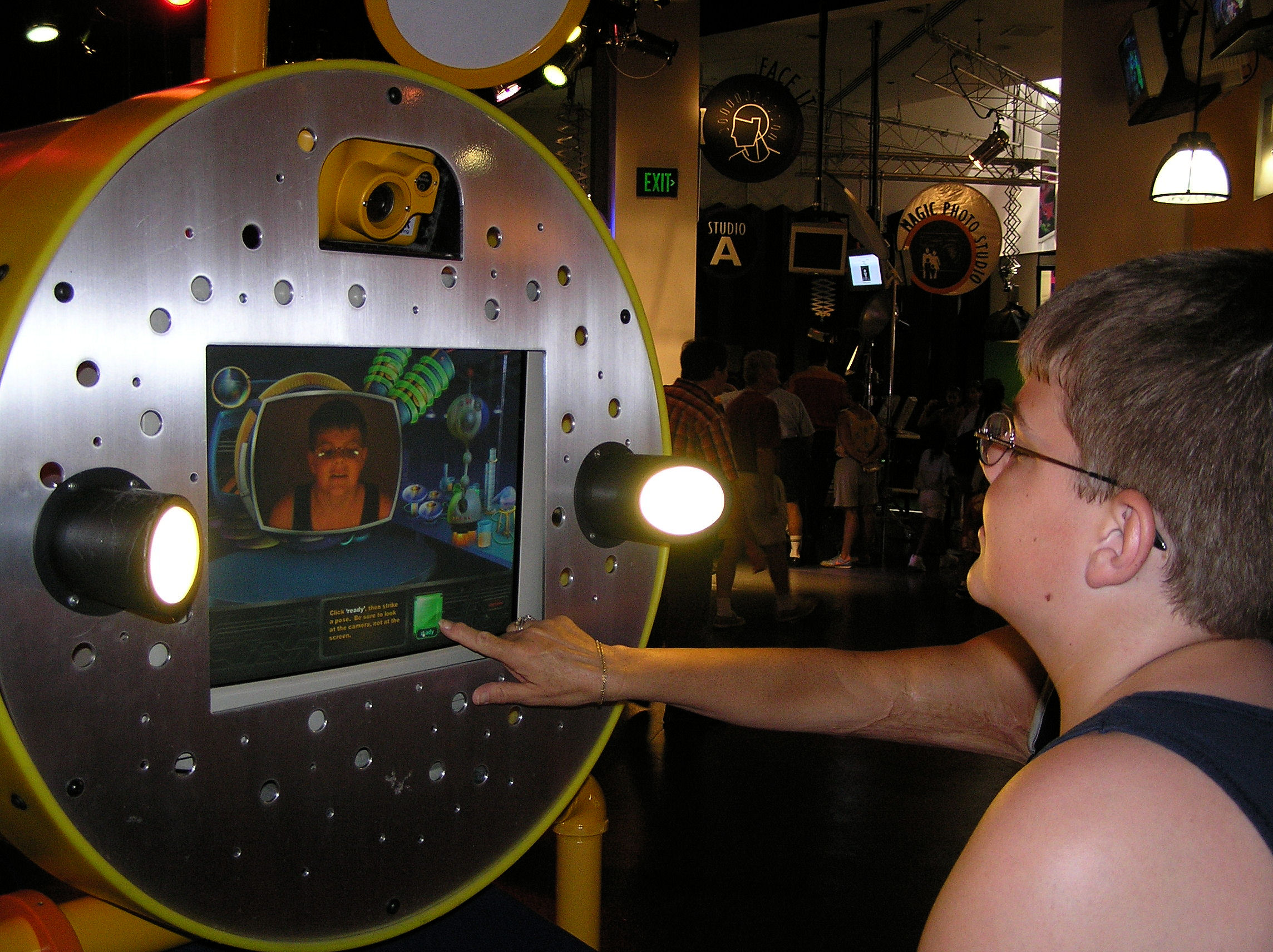 Mom and I doing a personalized picture in Imageworks at EPCOT.