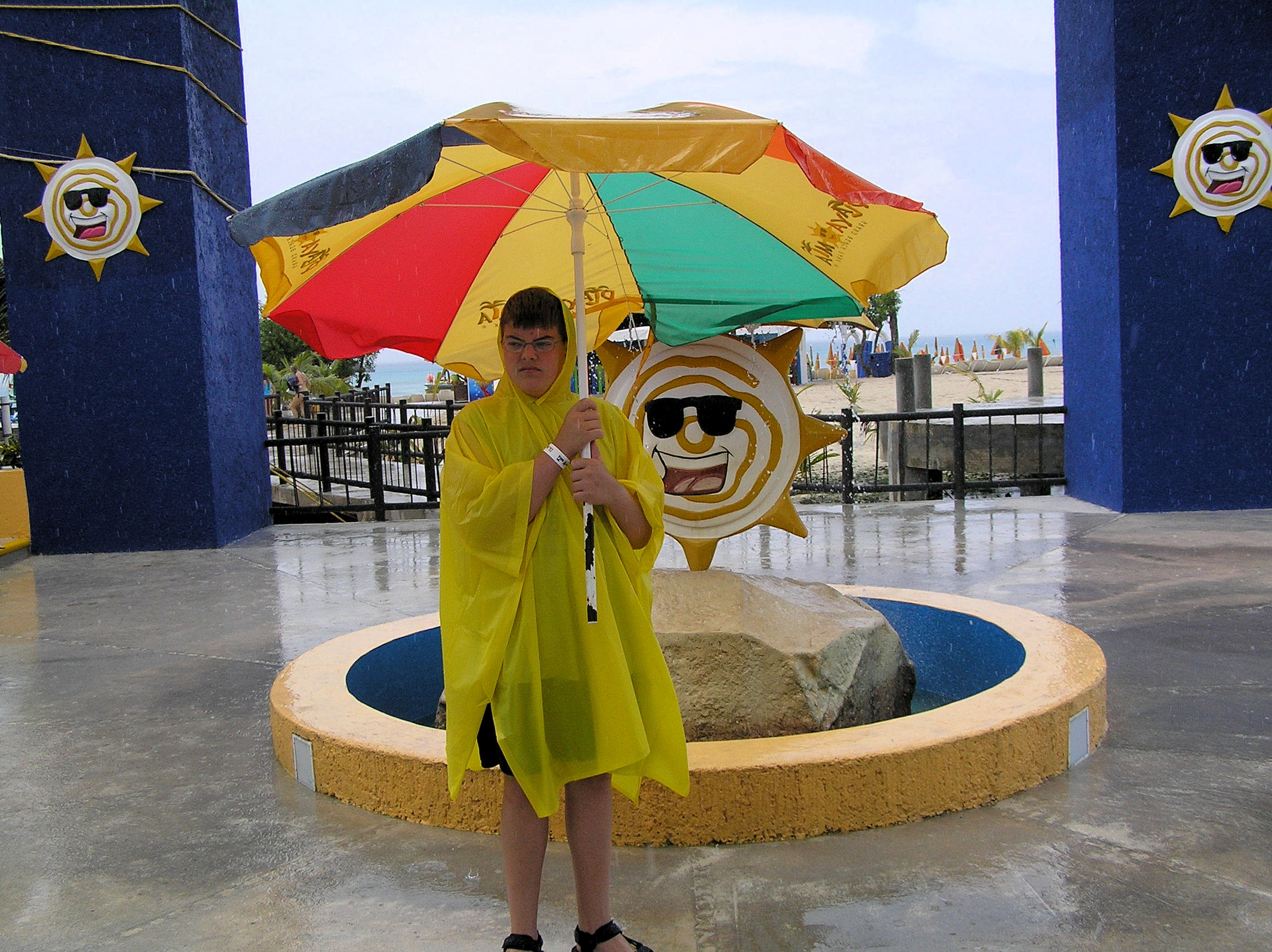 Me at Playa del Sol (Beach of the Sun), while on a Disney Cruise Line shore excursion (Cozumel, Mexico).