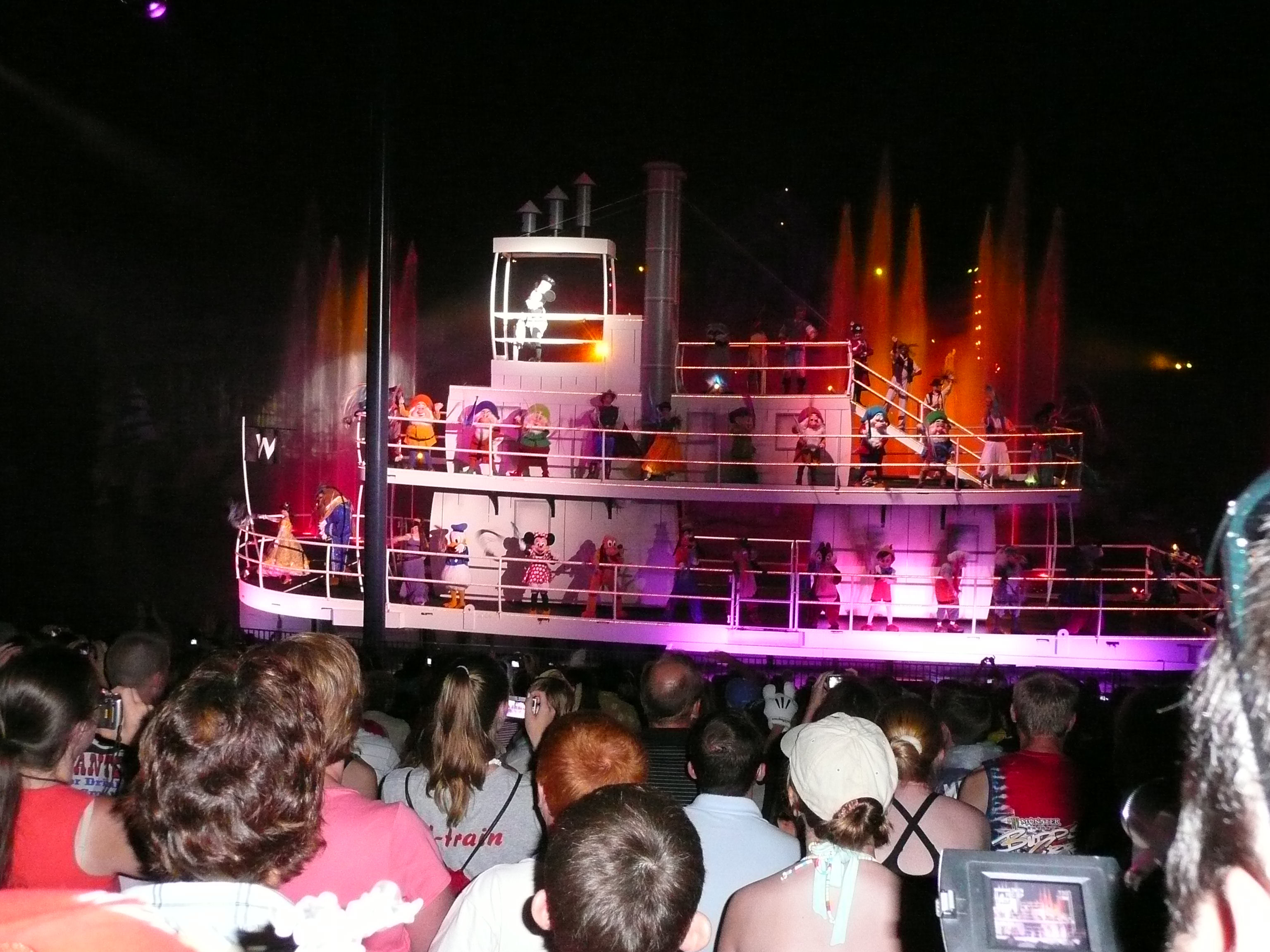 The finale of Fantasmic, the night time show at Disney's Hollywood Studios.