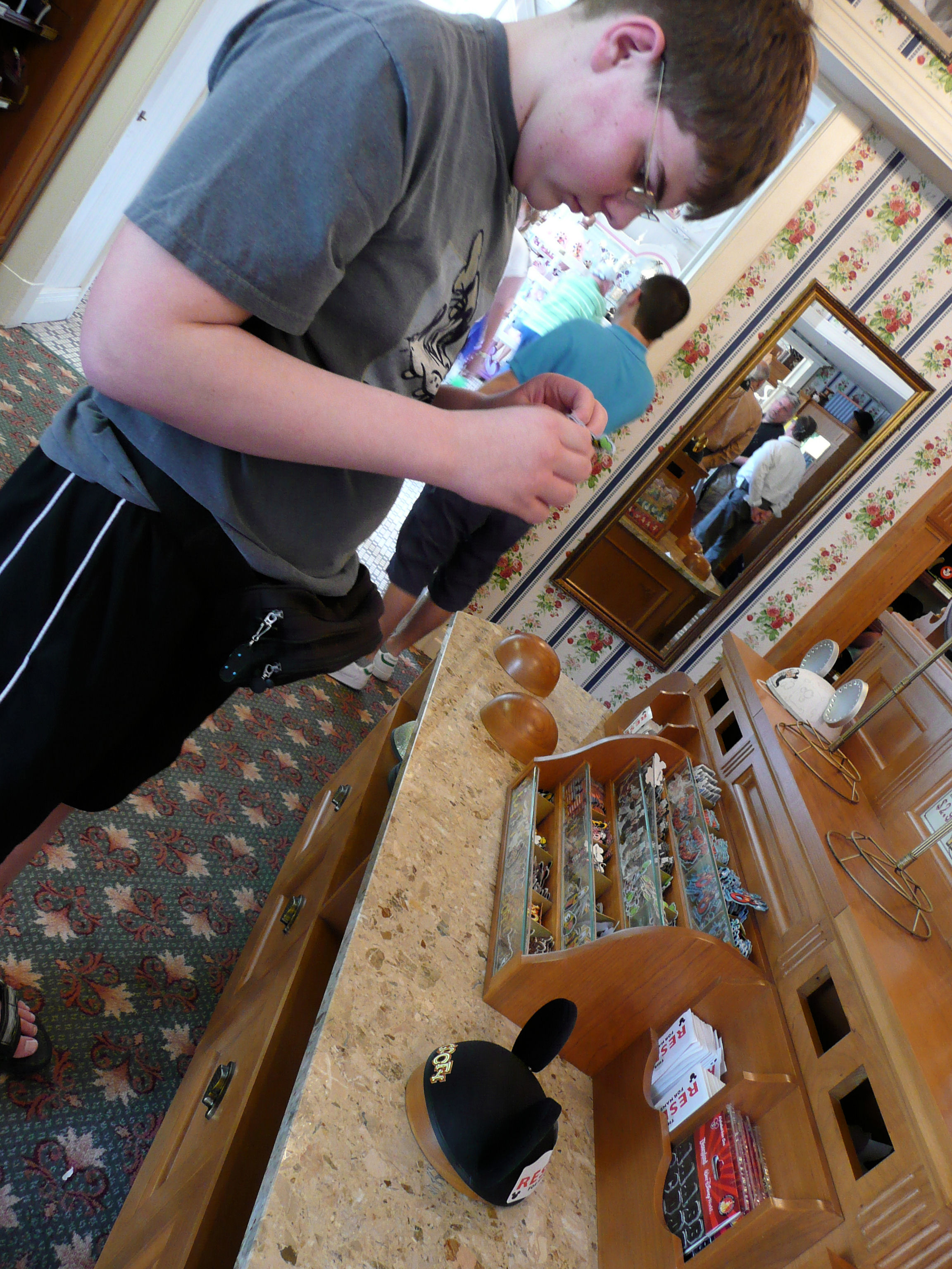 Designing my Mickey ears at the Magic Kingdom, Walt Disney World.