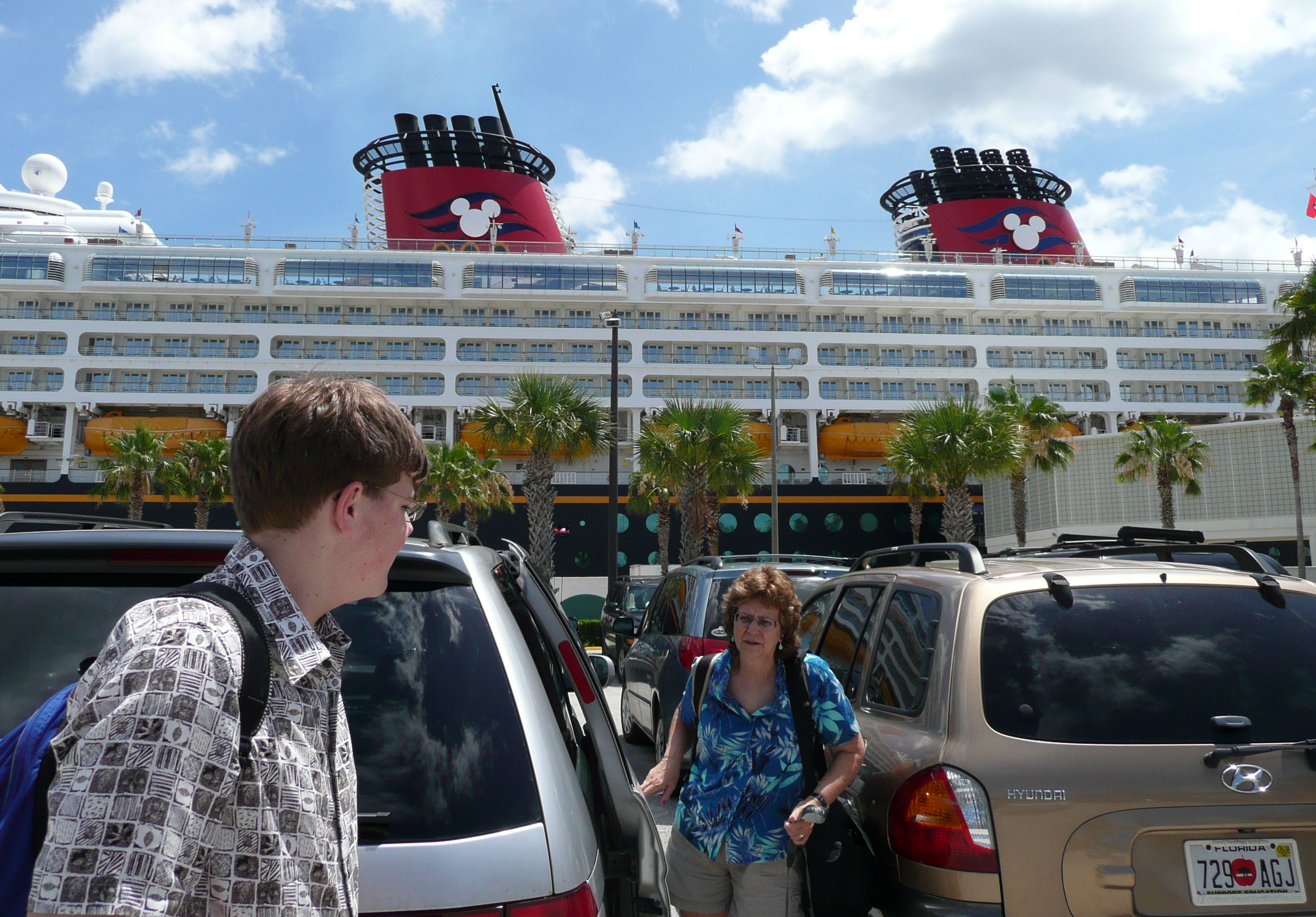 Getting ready to go cruising on the Disney Cruise Line (cruise terminal at Port Canaveral, FL).