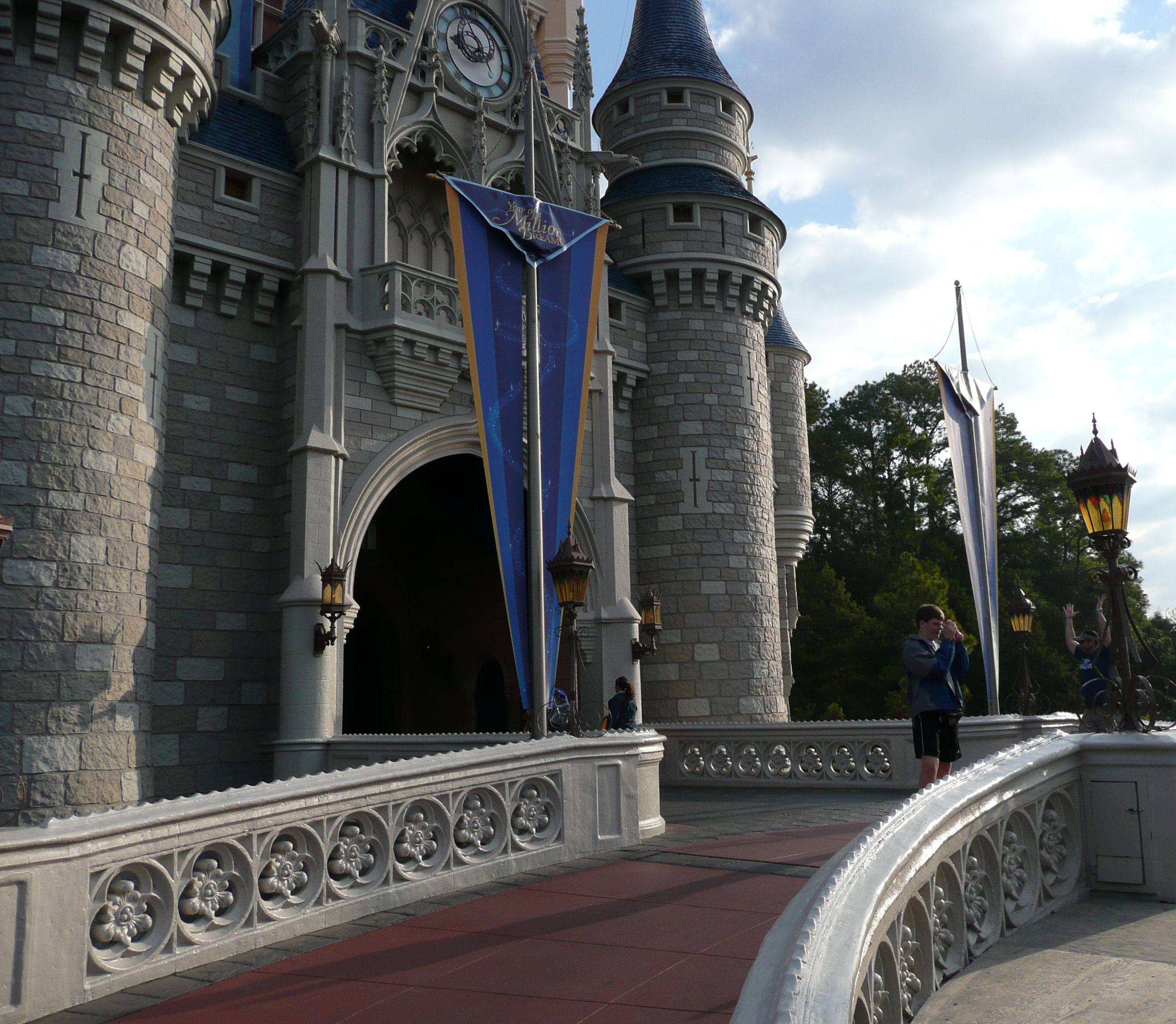Capturing the magic in front of Cinderella's Castle at Disney World!