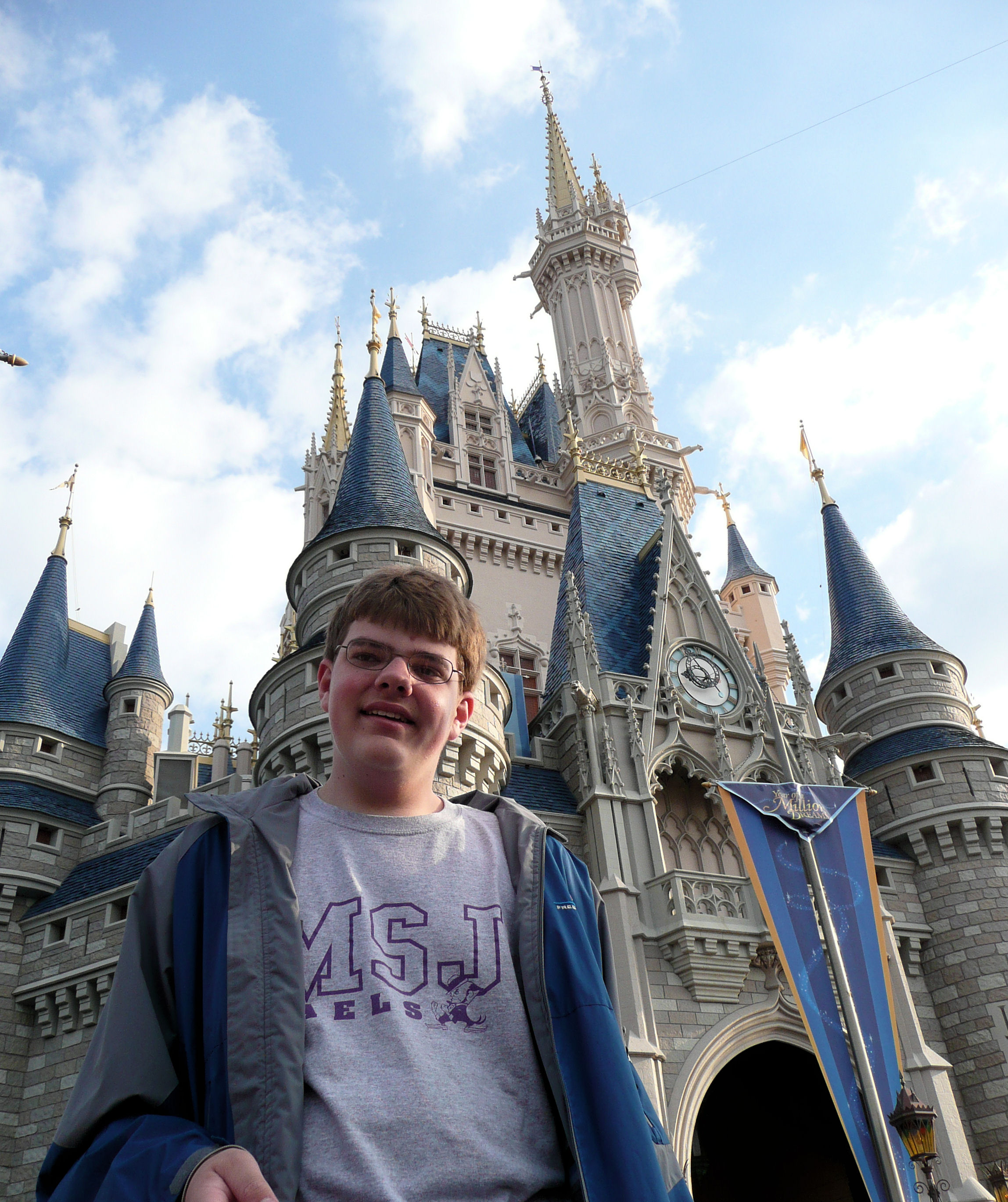 Me by Cinderella Castle at Magic Kingdom, Disney World.