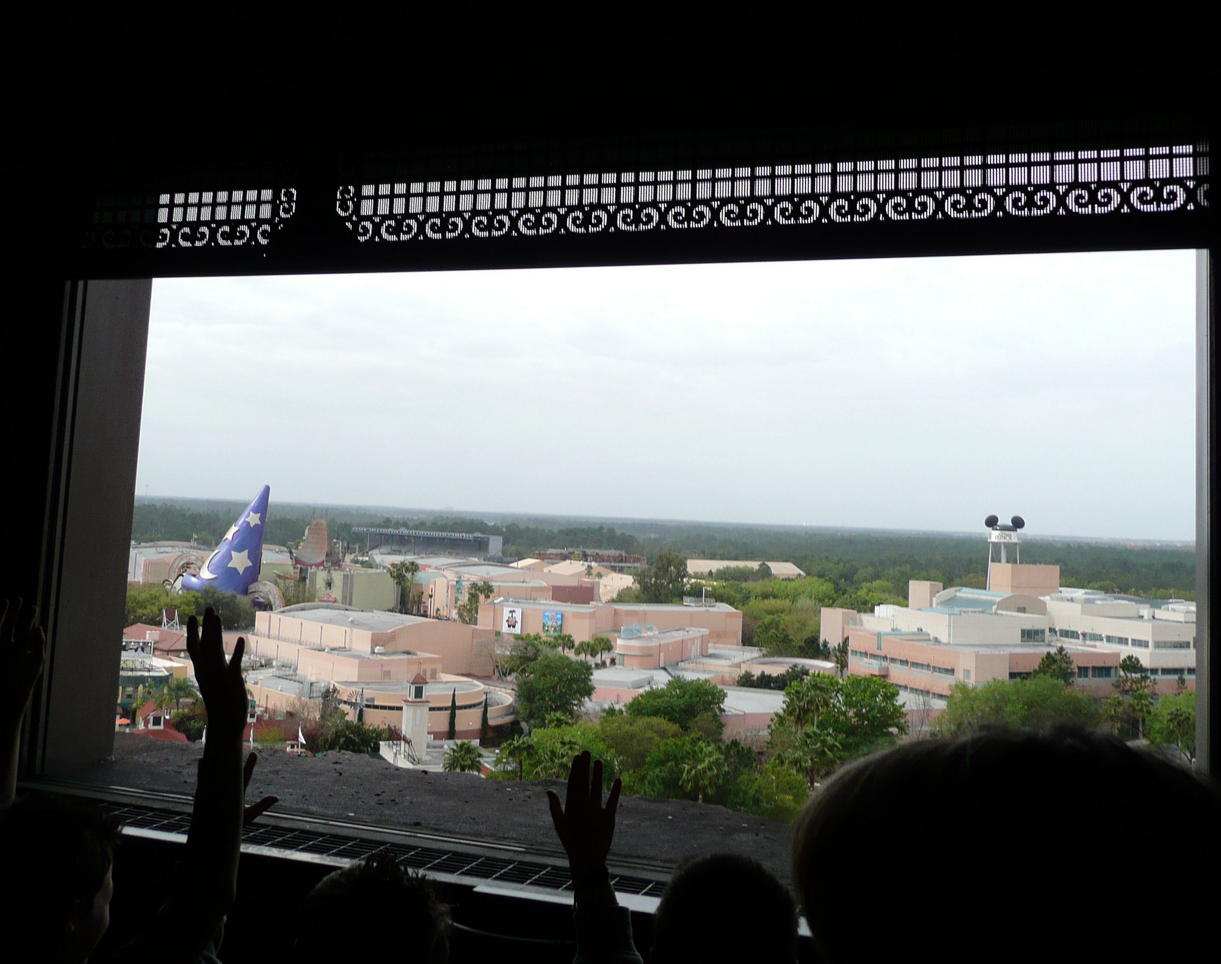View from Twilight Zone Tower of Terror's drop tower.