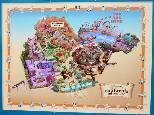 Map of What's Coming to California Adventure.