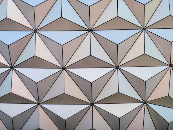 Extreme Close-up of the Big Ball at EPCOT.