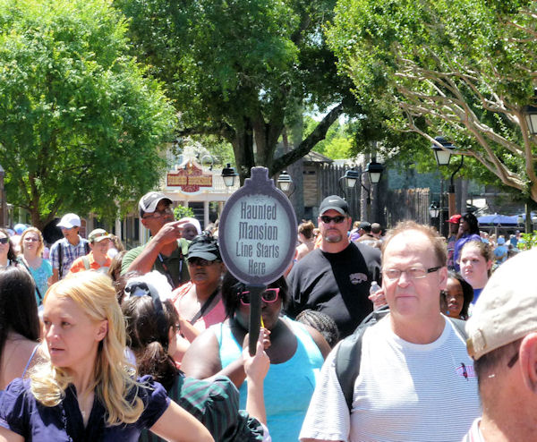 End of the line for the Haunted Mansion.