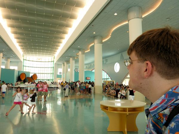 Arriving at the Disney Cruise Terminal.