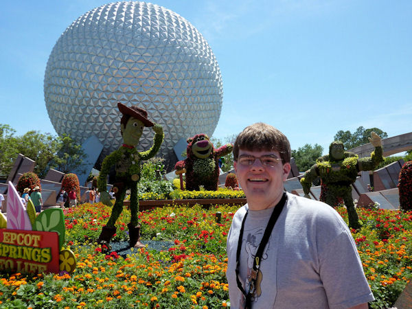 The topiary at the entrance to EPCOT for the Flower and Garden Show.