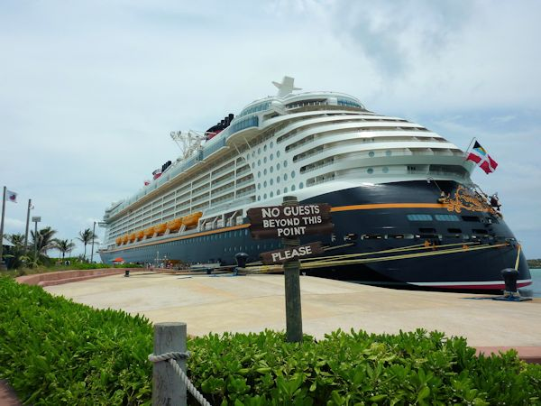 Returning to the Dream after a day at Castaway Cay.