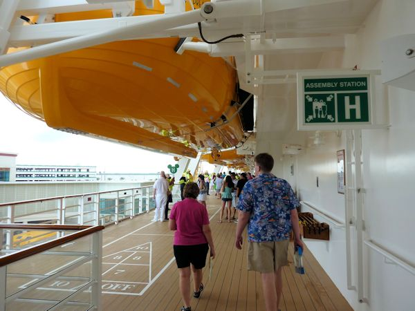 Manadatory lifeboat drill on the Disney Dream.