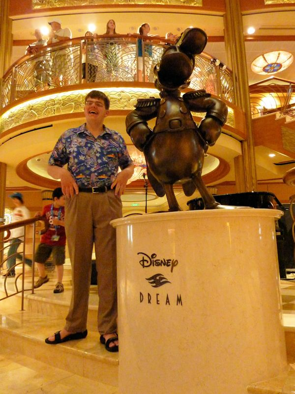 The host of the Disney Dream.