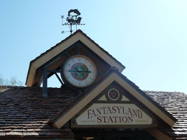New train station (Carolwood) in Fantasy Land, named for Walt's backyard model train.