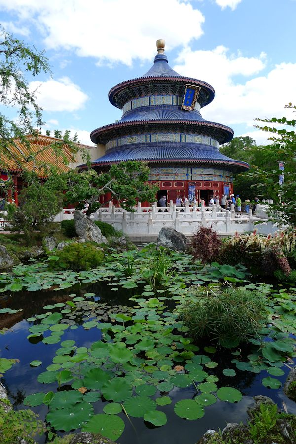 A view of China at EPCOT.