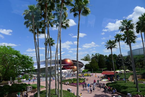 Mission Space as seen from the Monorail.