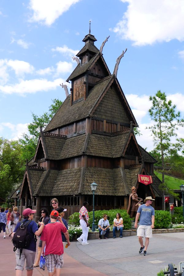 The Stave Church in Norway at EPCOT.