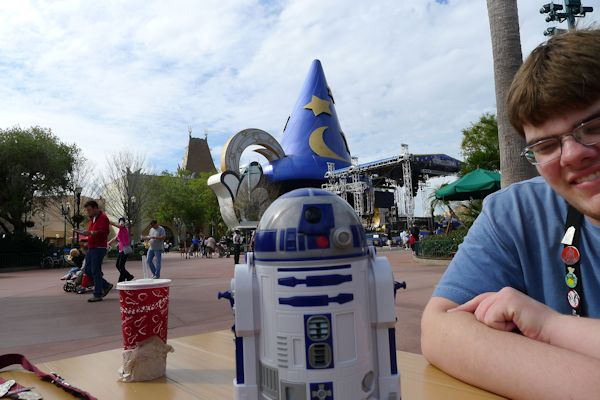 Taking a break at Hollywood Studios.