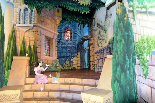 Inside Snow White's Scary Adventure.